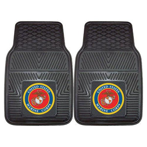 "US Marines Armed Forces Heavy Duty 2-Piece Vinyl Car Mats (18x27"")"""
