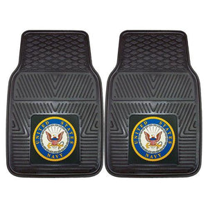 "US Navy Armed Forces Heavy Duty 2-Piece Vinyl Car Mats (18x27"")"""