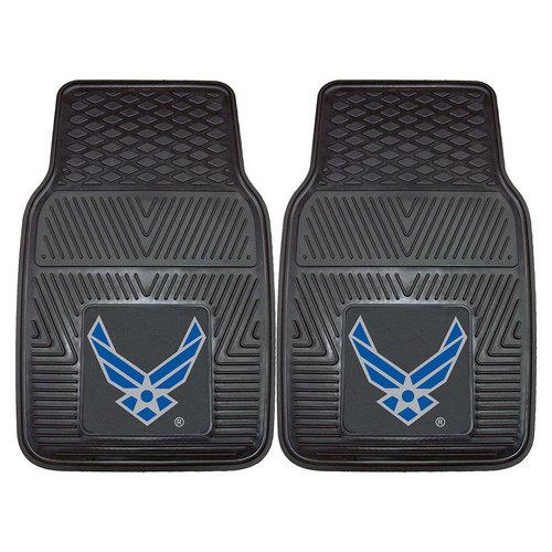 "US Air Force Armed Forces Heavy Duty 2-Piece Vinyl Car Mats (18x27"")"""