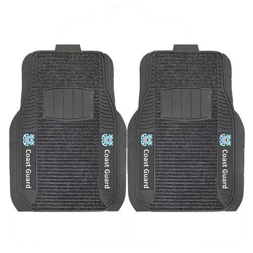 US Coast Guard Armed Forces Deluxe 2-Piece Vinyl Car Mats