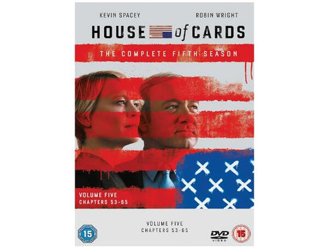 House Of Cards DVDs Season 5 The Complete Fifth Season | House Of Cards Fifth Season Kevin Spacey Robin Wright Michael Kelly Kristen Connolly Kate Mara
