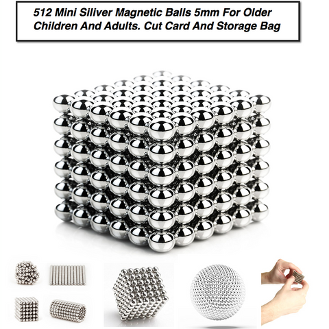 5mm Magnetic Balls For Stress Relief Toys By LUD | Stress Relief For Kids & Adults Mashable, Smashable, Rollable, Buildable Magnets
