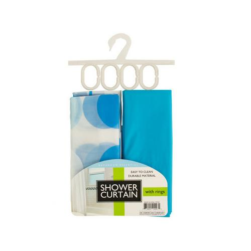 Shower Curtain with Liner & Rings Set ( Case of 6 )