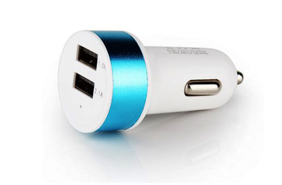 Premium USB Dual Car Charger Adapter usb charger for iphone 5s/6/6s/7/7s - 10 PC,