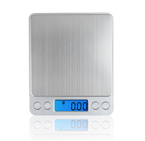 Portable Mini Electronic Digital Scales Pocket Case Postal Kitchen Jewelry Weight Balanca Digital Scale With 2 Tray 500g x 0.01g - 3 PSC