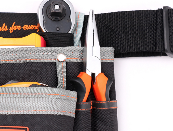 Tool Bags Polyester 250x240mm 8 Pockets woodworking Waist Belt tools bag Electricians Tool Pouch Kit Bag Multifunctional Tool Holder - 5 PCS