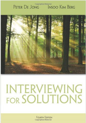 Interviewing for Solutions by Jong & Berg 4e (HSE 123 Interv) New Paperback 2012 -  978-1111722203