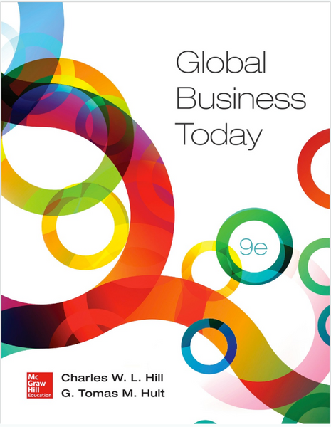 Global Business Today by Charles Hill & M. Hult 9th Edition (New Paperback 2015) - 978-0078112911