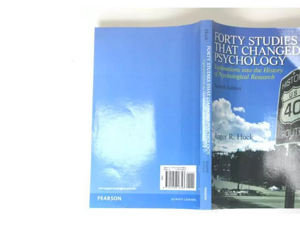 Forty Studies That Changed Psychology by Roger R. Hock 2012, Paperback 7th Edition - 978-0205918393