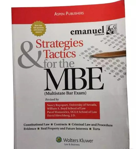 Strategies and Tactics for the MBE by Steven L. Emanuel 5e (NEW, Paperback 2012) - 978-1454809920