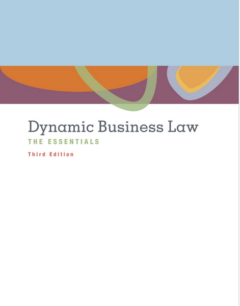 Dynamic Business Law: The Essentials by Nancy K.Kubasek, 3e (NEW Paperback 2015) - 978-0078023842