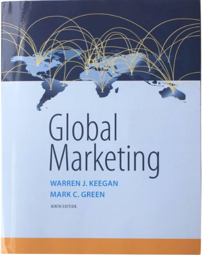 Global Marketing by W. J Keegan And M. C. Green 9th Edition (New Paperback 2016) - 978-0134129945