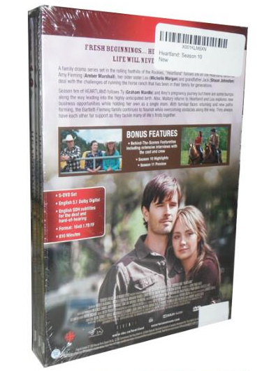 Heartland DVD Complete Season 10 Movie series By Amber Marshall, Graham Wardle | Season 10 Amber Marshall, Graham Wardle, Various 5-Set DVD Region 1 New Release 2017