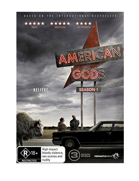 American Gods - Season 1 (One) 3-Set DVD Region 1 New Release 2017