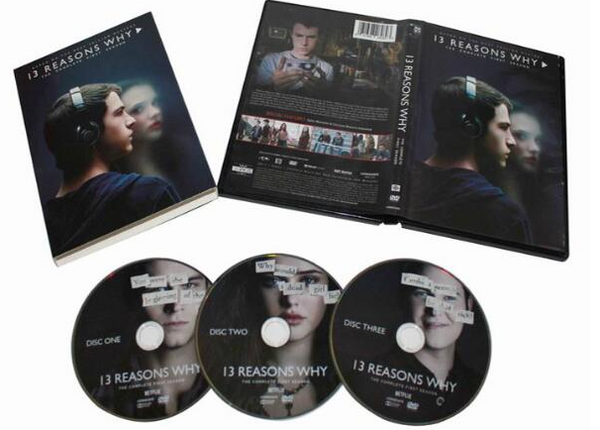13 Reasons Why By Netflix | The 13 Reasons Why Series CD DVD Season 1 Release 2017 New 3-Set DVD Region 1