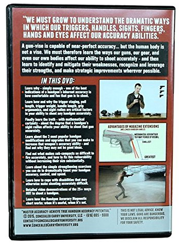 Master Handgun Accuracy New 2017 Release 3-Set DVD Region 1