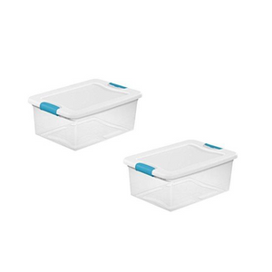Sterilite Storage Containers By Sterilite | Airtight Food Storage Containers With Latches To Secure Lid To The Base 15 Quart 2-Pack