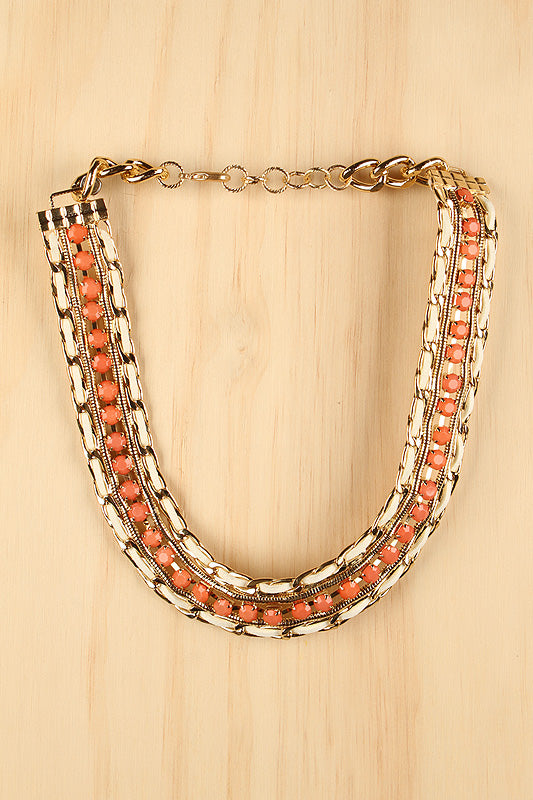 Urban Royale Necklace For Women By LUD | Shop Women's Fashion Lovely Stylish Fashionable Fabulously Chic In The Urban Royale Necklace Chunky Gold-Tone Curb Link Chain Multi-Chains Urban Royale Necklace