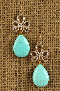 Free Spirit Luck Earrings For Women By LUD | Shop Women's Fashion Free Spirit Luck Earrings A textured gold-tone shamrock with Hanging Teardrop-shaped Turquoise Stone