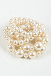 Chic Tier Bracelet For Women By LUD | Shop Women's Fashion Chic Tier Bracelet Features Five Faux Pearl Stretch Bracelets Can Be Worn All Day Accessories