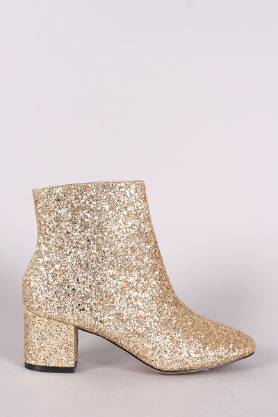 Block Heeled Ankle Boots For Women By Wild LUD | Shop Women's Fashion Summerwhisper Women's Elegant Glitter Sequins Almond Toe Bridal Booties Side Zipper Mid Block Heel Ankle Boots