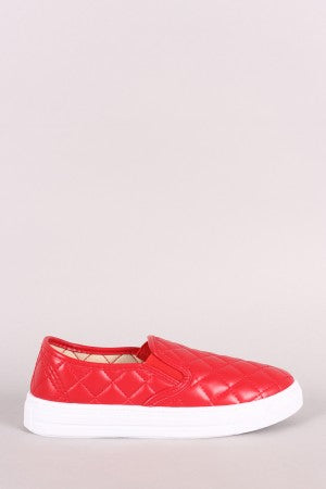 Qupid Quilted Slip-On Sneaker