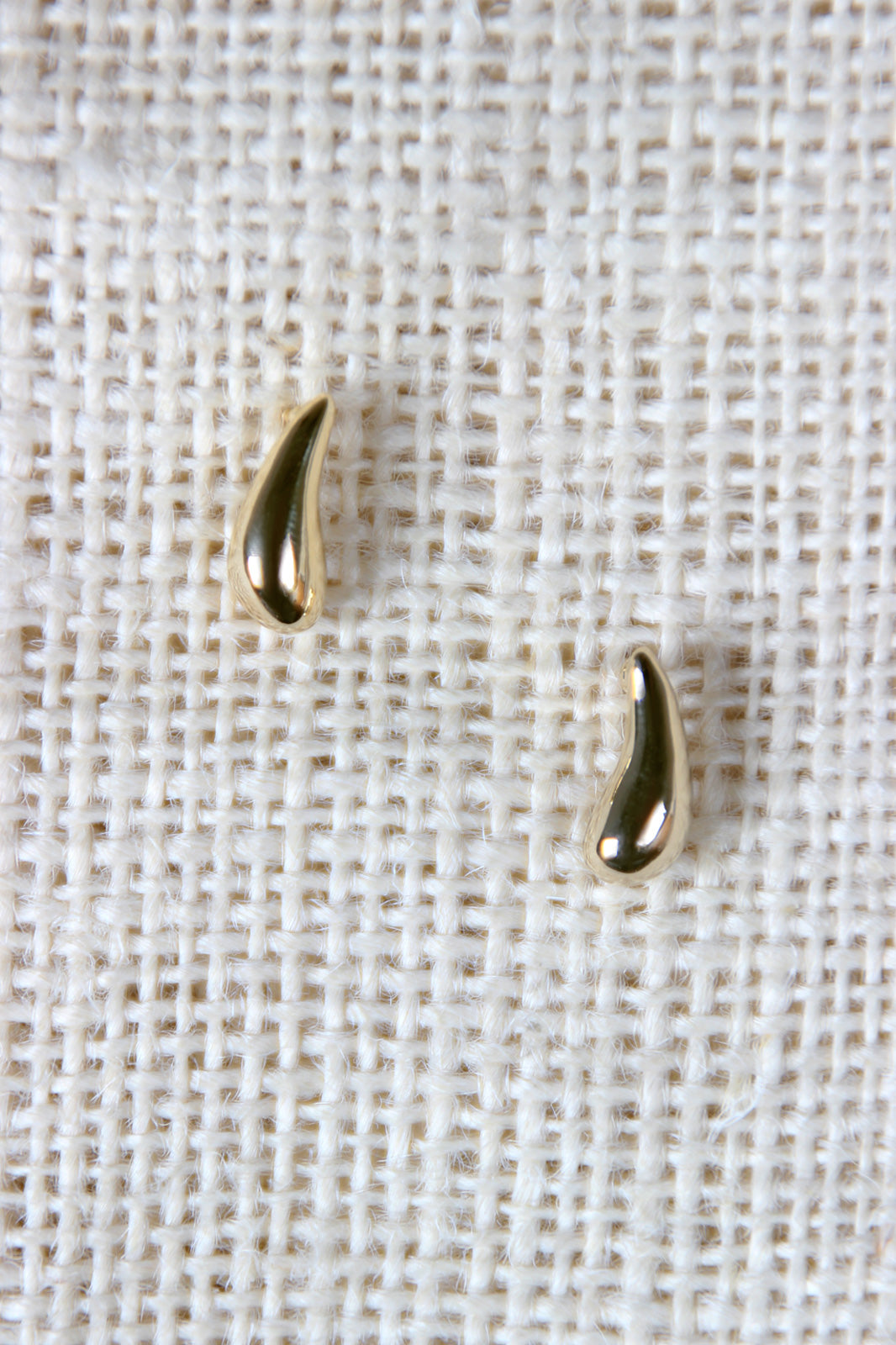 Drops of Gold Earrings For Women By LUD | Shop Women's Fashion Simple Earrings Feature A High Polished Metallic Finish Droplet Shape And A Post Back.
