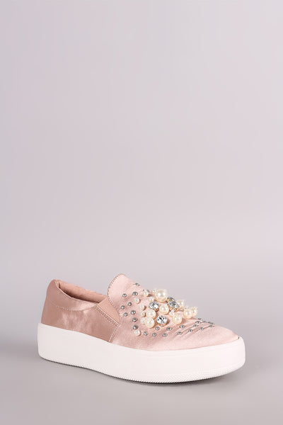 Soda Satin Slip-On Flatform Sneaker