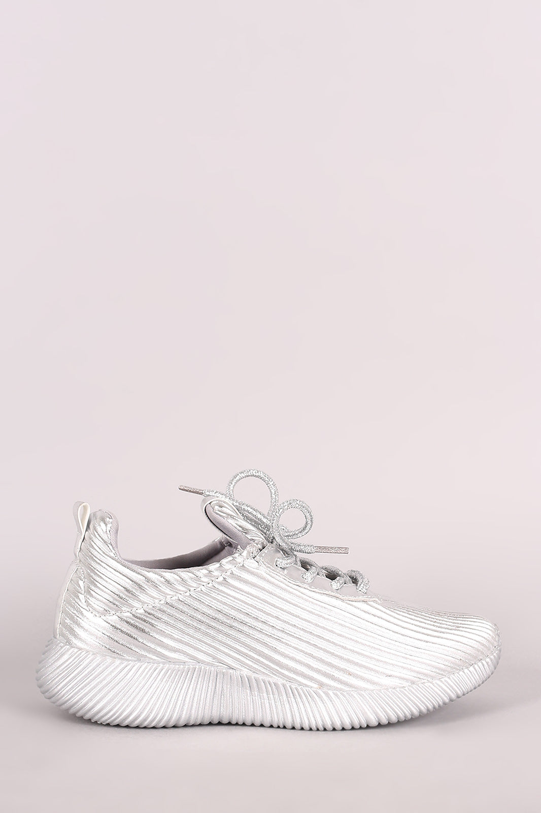Ridgy Textured Sneaker For Women By Qupid | Shop Women's Fashion Lovely Stylish Round Toe Silhouette Ridgy Textured Vegan Leather Upper Ridgy Textured Lace Up Closure Sneaker