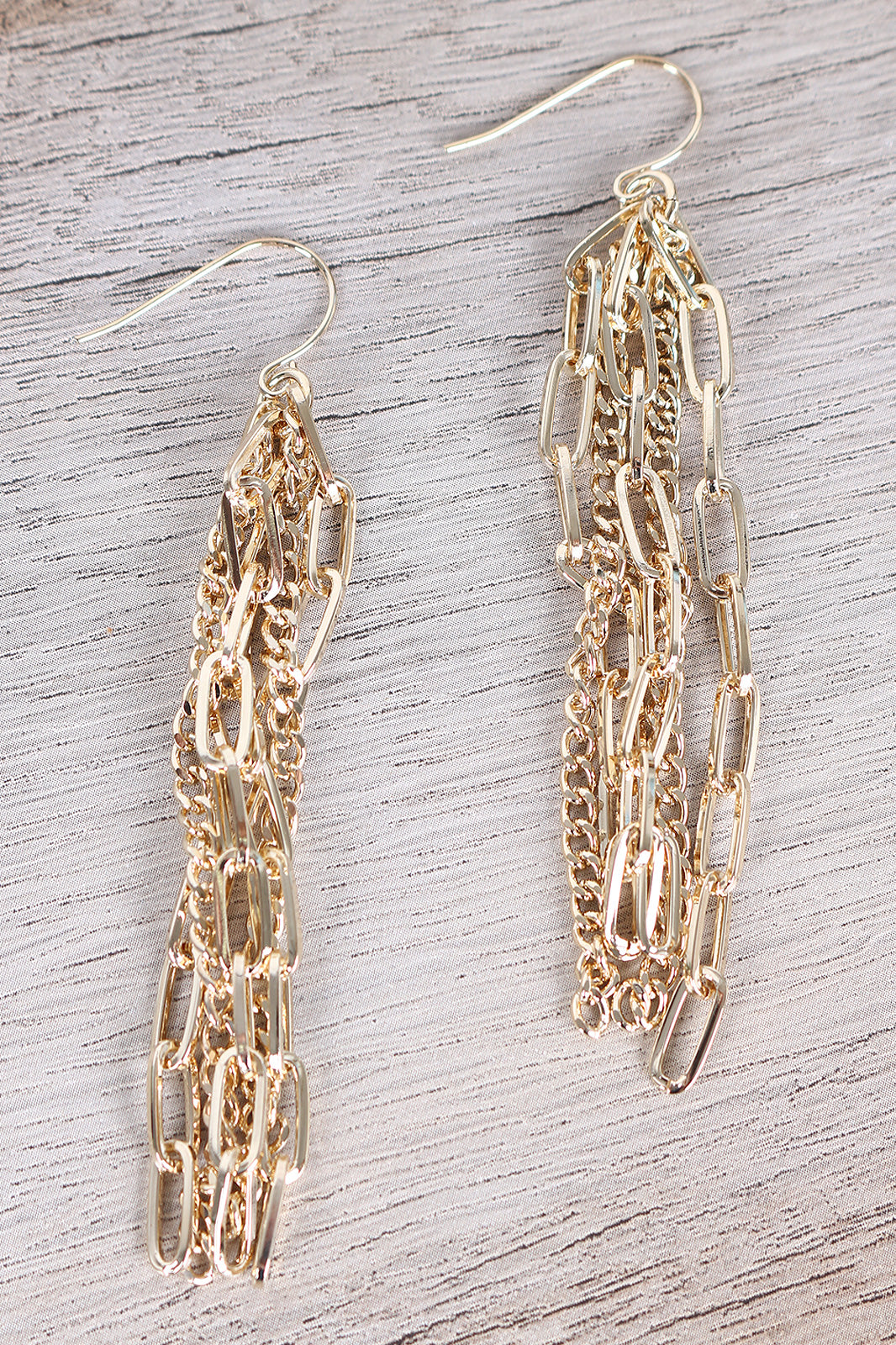 Polished Chain Tassel Earrings