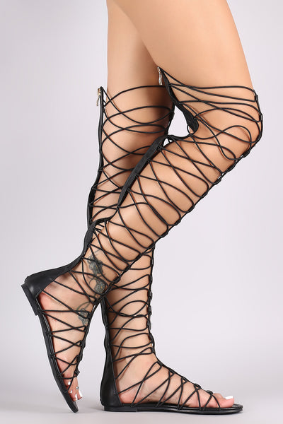 Liliana Elasticized Strappy Gladiator Sandal