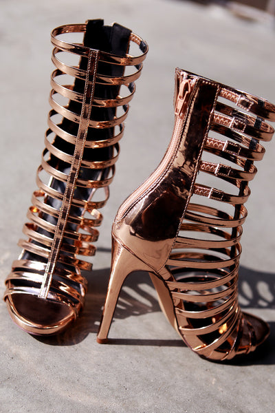 Strappy Gladiator Heel For Women By Liliana | Shop Women's Fashion Stylish Mirror Heels Open Toe Silhouette Strappy Vamp Wrapped Stiletto Gladiator Heel