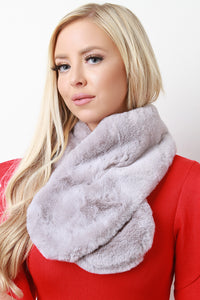 Faux Fur Tippet Scarf For Women By LUD | Shop Women's Fashion Fluffy Faux Fur Scarves Shawl Winter Soft Thick Scarf Wrap Collar Shrug