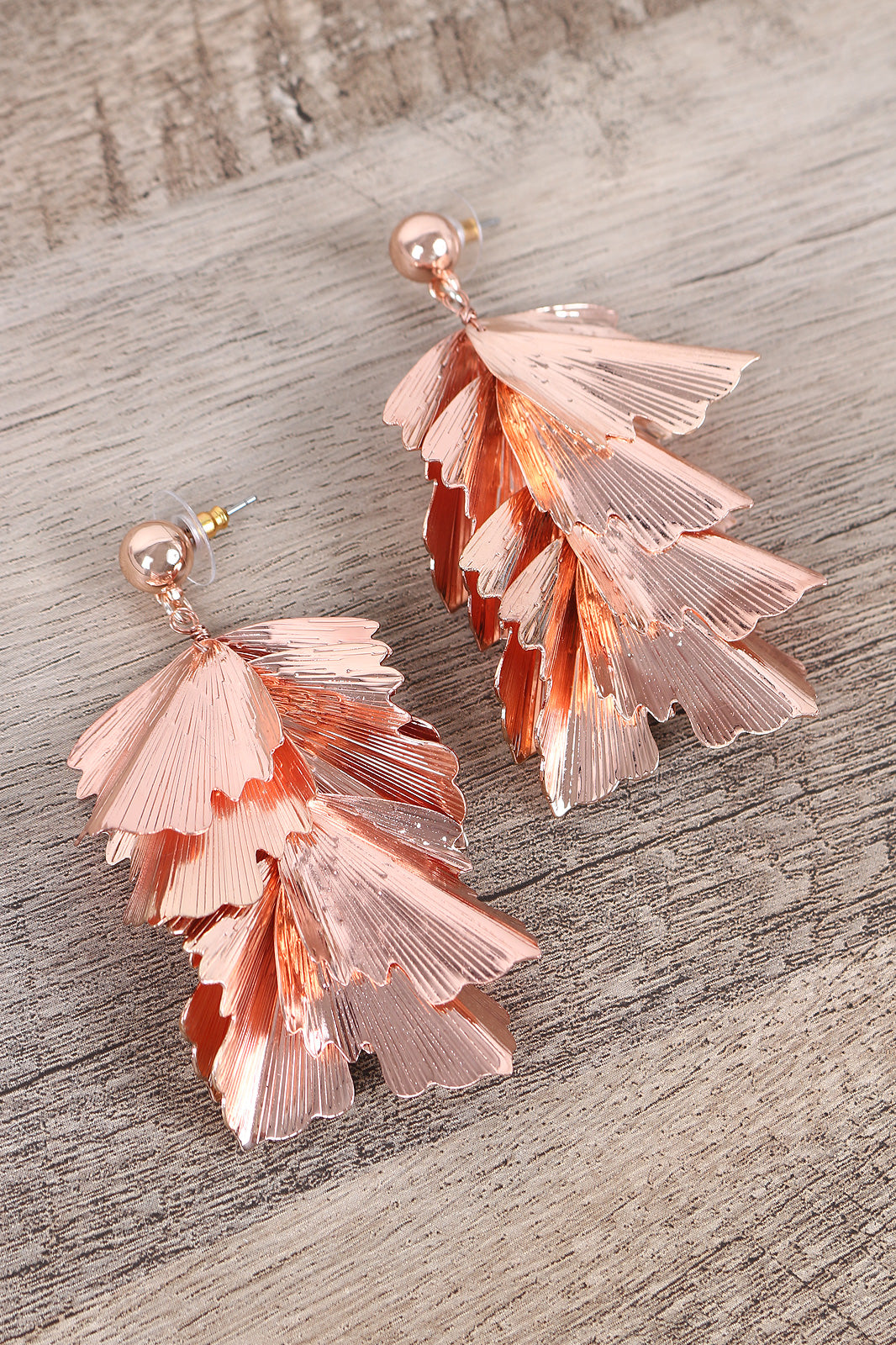 Tiered Textured Drop Earrings