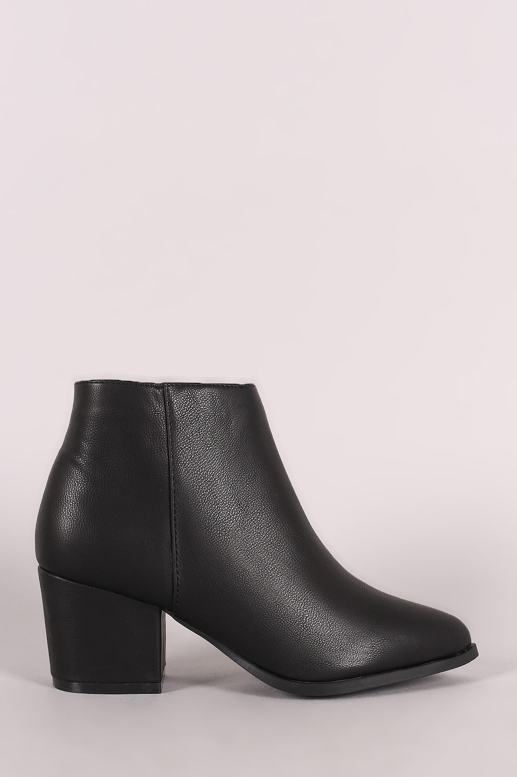 Bamboo Pointy Toe Block Heeled Western Booties