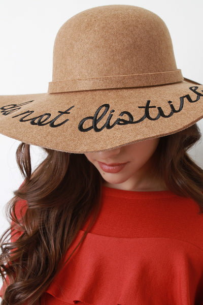 Do Not Disturb Felt Wool Floppy Hat