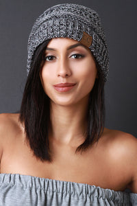 Marled Knit Beanie For Women By LUD | Shop Women's Fashion lovely Slouchy Beanie Winter Ski Baggy Hat Unisex Various Styles