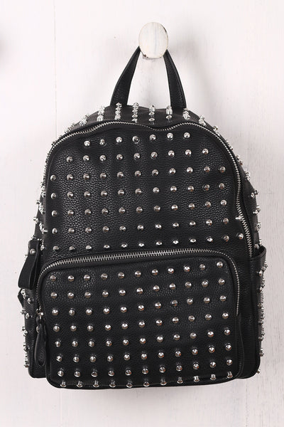 Studded Crinkled Small Backpack