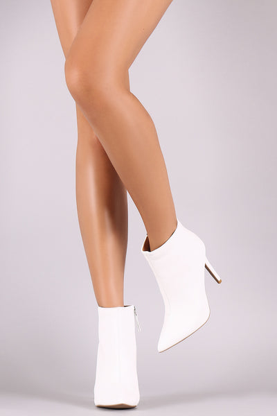 Qupid Pointy Toe Stiletto Ankle Boots