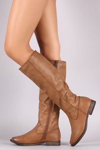 Bamboo Plain Riding Knee High Boots