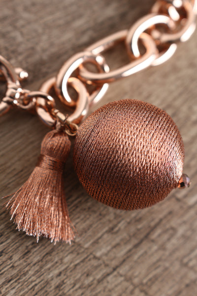 Tassel Bracelet For Women By LUD | Shop Women's Fashion Nice Style Metallic Thread Wrapped Balls And Tassel Bracelet