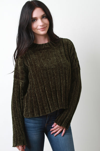 Long Sleeve Sweaters For Women Chenille Knit Sweater By Knit Women's Clothings | Long Sleeves Chenille Knit Sweater