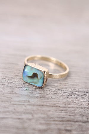 Rectangle Turquoise Stone Ring