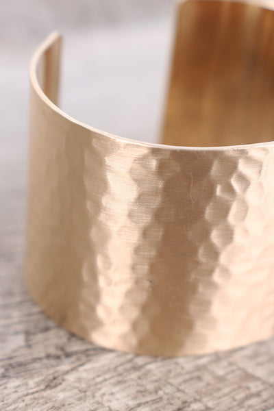 Hammered Open Cuff Bracelet