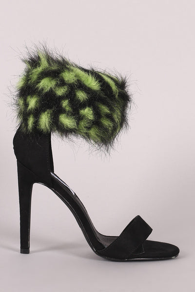 Single Sole Stiletto Heel For Women By LUD | Shop Women's Fashion Faux Fur Ankle Cuff Suede Single Sole Stiletto Heel Berry Pink Faux Fur Ankle Cuff Suede Single Sole Stiletto Heels