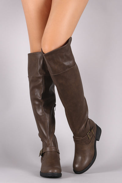 Low Block Heel Riding Boots For Women By Anne Michelle | Women Fashion Back Studs And Zipper Trim Riding Boots Riding Boots For Women Low Block Heel Riding Boots For Women