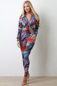 Vibrant Serpent Two Piece Set