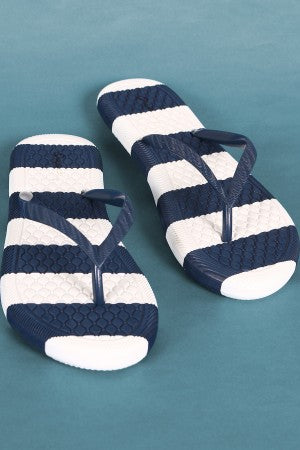 Flip Flop Sandal For Women By Qupid | Shop Women's Fashion Lovely Stylish Stripe Jelly Thong Flip Flop Sandal