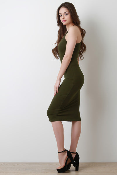 Jersey Racerback Dress Knit Midi Dress By Racerback Dress | Racerback Jersey Knit Midi Dress