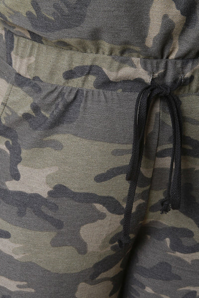 Camouflage High Rise Jogger Pants